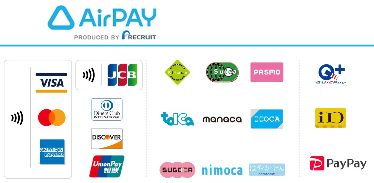 クレジットカード・交通系ICカード・pay払い可能です